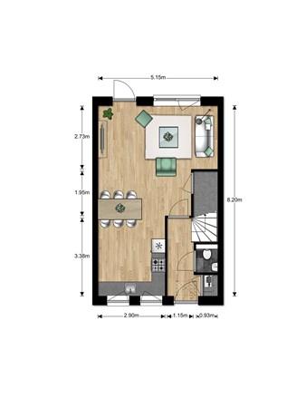 Floorplan - Bouwnummer Bouwnummer 679, 6852 Huissen