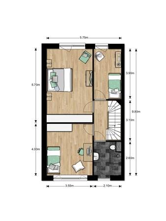 Floorplan - Bouwnummer Bouwnummer 686, 6852 Huissen