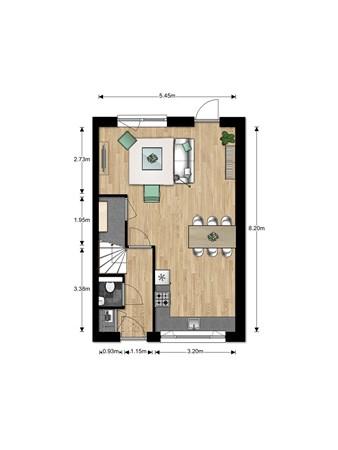 Floorplan - Bouwnummer Bouwnummer 677, 6852 Huissen