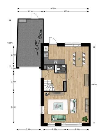 Floorplan - Bouwnummer Bouwnummer 692, 6852 Huissen