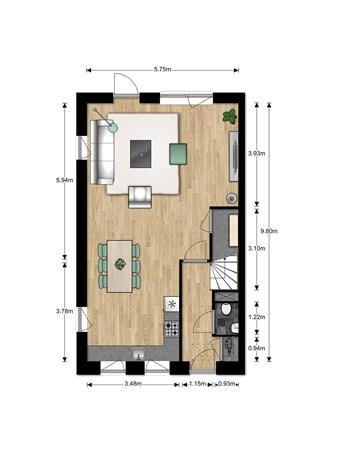 Floorplan - Bouwnummer Bouwnummer 691, 6852 Huissen