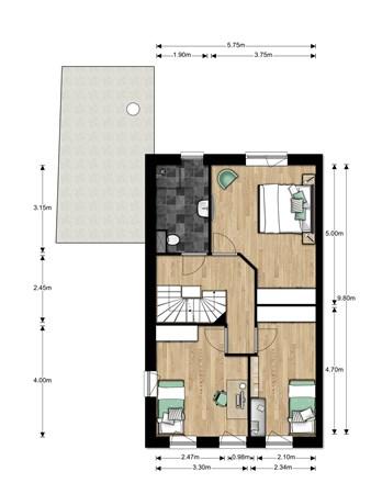 Floorplan - Bouwnummer Bouwnummer 683, 6852 Huissen
