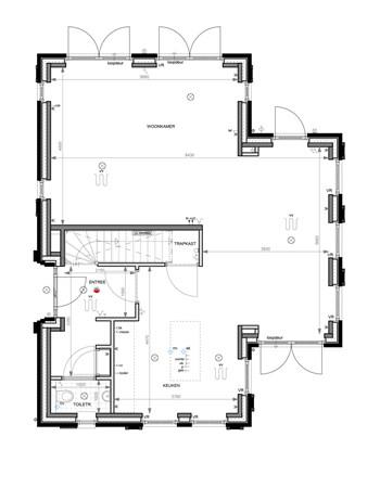 Floorplan - Bouwnummer 006 Bouwnummer 006, 6852 AA Huissen