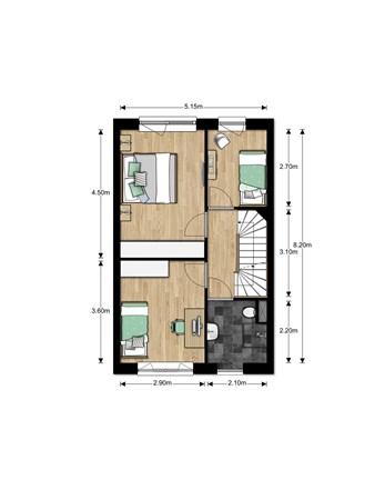 Floorplan - Bouwnummer Bouwnummer 674, 6852 Huissen