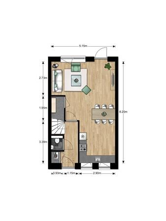 Floorplan - Bouwnummer Bouwnummer 675, 6852 Huissen