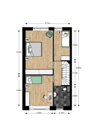 Floorplan - Bouwnummer Bouwnummer 693, 6852 Huissen