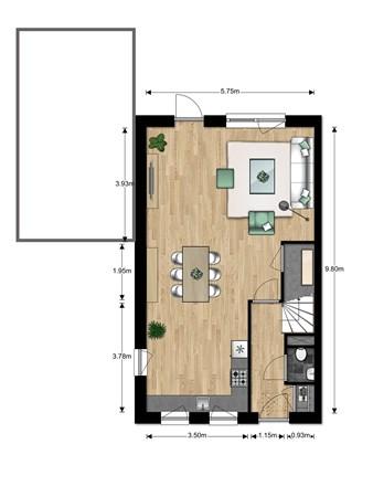 Floorplan - Bouwnummer Bouwnummer 684, 6852 Huissen