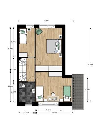 Floorplan - Bouwnummer Bouwnummer 688, 6852 Huissen