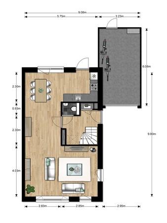 Floorplan - Bouwnummer Bouwnummer 690, 6852 Huissen