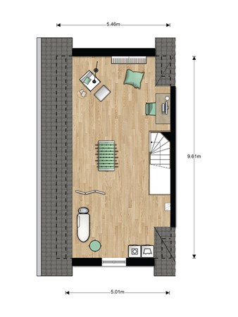 Floorplan - Bouwnummer 005 Bouwnummer 005, 6846 EM Arnhem