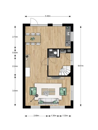 Floorplan - Bouwnummer 014 Bouwnummer 014, 6846 EM Arnhem