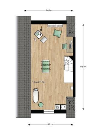 Floorplan - Bouwnummer 017 Bouwnummer 017, 6846 EM Arnhem