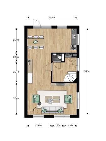 Floorplan - Bouwnummer 001, 6846 EM Arnhem