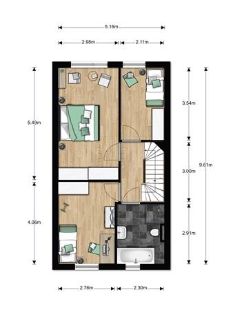 Floorplan - Bouwnummer 003, 6846 EM Arnhem