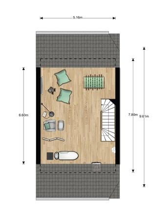 Floorplan - Bouwnummer 004, 6846 EM Arnhem