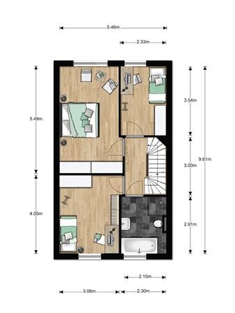 Floorplan - Bouwnummer 006, 6846 EM Arnhem