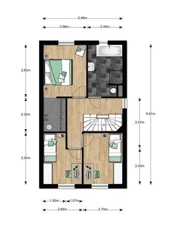 Floorplan - Bouwnummer 017, 6846 EM Arnhem