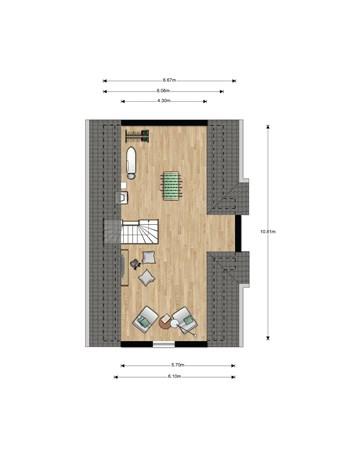 Floorplan - Bouwnummer 018, 6846 EM Arnhem
