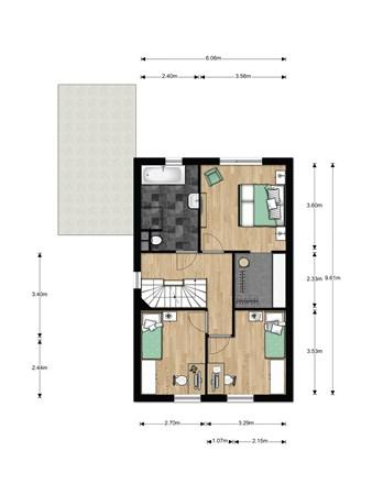 Floorplan - Bouwnummer 019, 6846 EM Arnhem