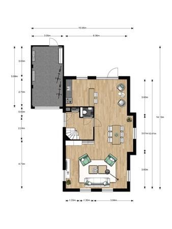 Floorplan - Bouwnummer 021, 6846 EM Arnhem