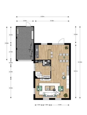 Floorplan - Bouwnummer 023, 6846 EM Arnhem