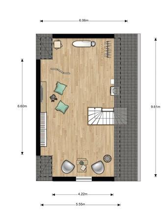 Floorplan - Bouwnummer 024, 6846 EM Arnhem