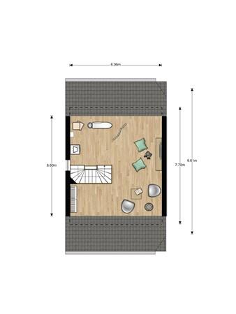 Floorplan - Bouwnummer 025, 6846 EM Arnhem