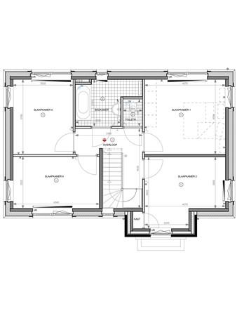 Floorplan - Bouwnummer 002, 6852 AA Huissen