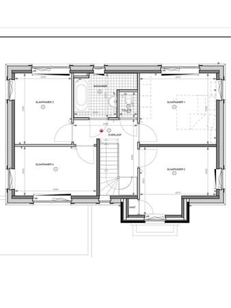 Floorplan - Hertogkade Bouwnummer 004, 6852 AA Huissen