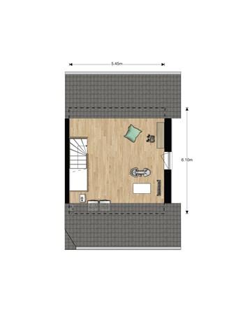 Floorplan - Bouwnummer 611, 6852 AA Huissen