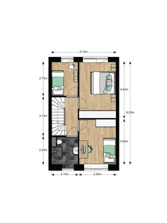 Floorplan - Bouwnummer 612, 6852 AA Huissen