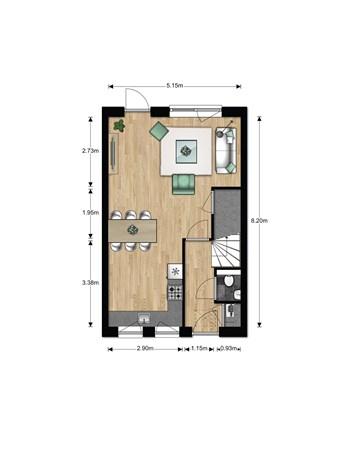 Floorplan - Bouwnummer 613, 6852 AA Huissen