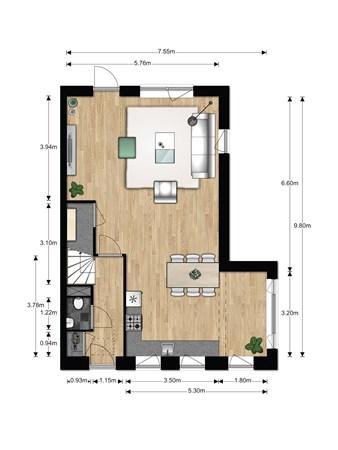 Floorplan - Bouwnummer 615, 6852 AA Huissen
