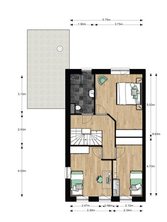 Floorplan - Hertogkade, 6852 AA Huissen