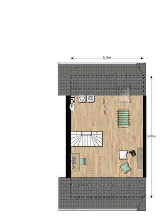 Floorplan - Hertogkade Bouwnummer 617, 6852 AA Huissen
