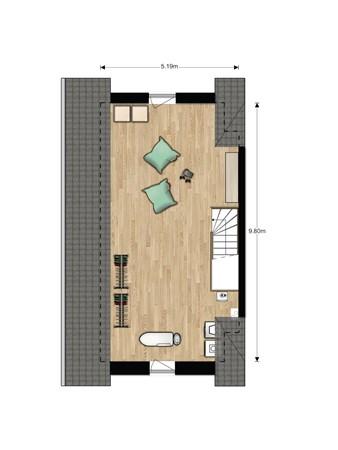 Floorplan - Bouwnummer 618, 6852 AA Huissen