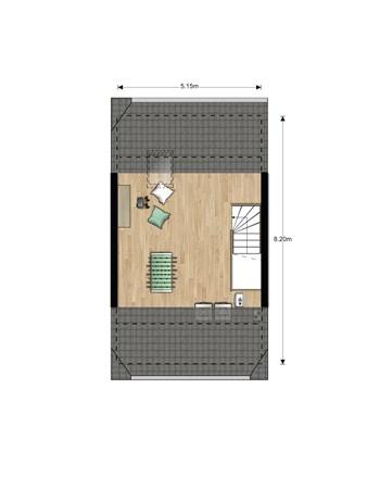 Floorplan - Bouwnummer 624, 6852 AA Huissen