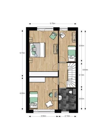 Floorplan - Bouwnummer 628, 6852 AA Huissen