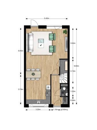 Floorplan - Bouwnummer 630, 6852 AA Huissen