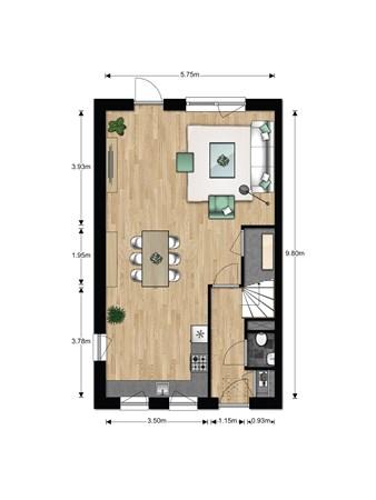 Floorplan - Bouwnummer 631, 6852 AA Huissen