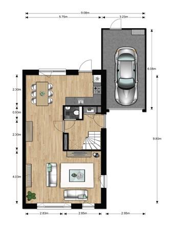 Floorplan - Bouwnummer 635, 6852 AA Huissen