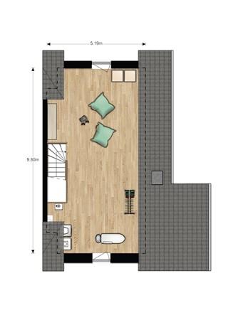 Floorplan - Hertogkade Bouwnummer 636, 6852 AA Huissen