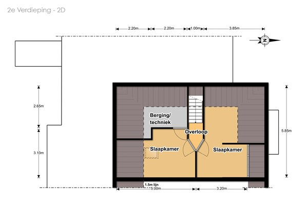 Floorplan - Willem Lodewijkhof 56, 8332 GC Steenwijk