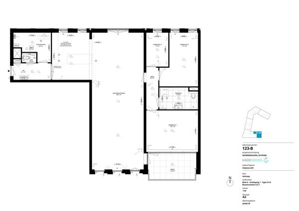 Floorplan - Coenensparkstraat Bouwnummer G.5.1, 7202 AN Zutphen