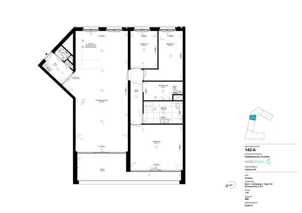 Floorplan - Bouwnummer I.14.4, 7202 AN Alblasserdam
