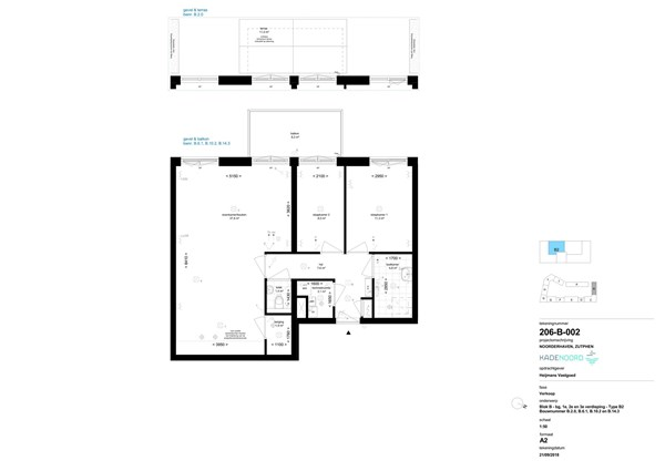 Floorplan - Bouwnummer B 2.0, 7202 AN Zutphen