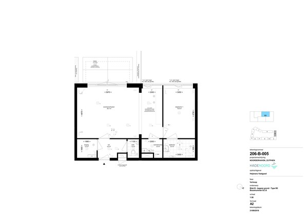 Floorplan - Bouwnummer B 3.0, 7202 AN Zutphen