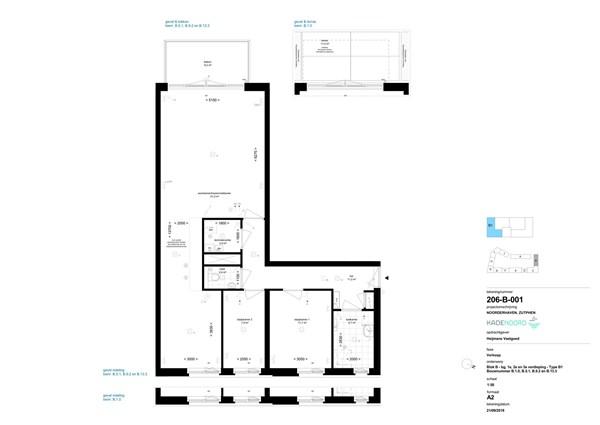 Floorplan - Bouwnummer B 13.3, 7202 AN Zutphen