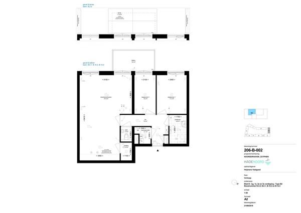 Floorplan - Bouwnummer B 14.3, 7202 AN Zutphen