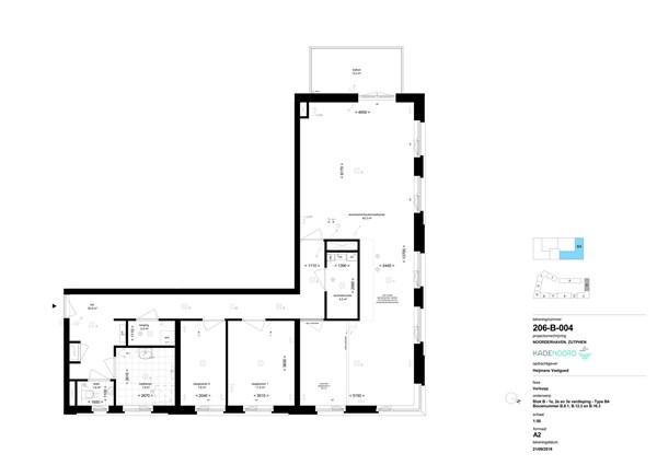 Floorplan - Bouwnummer B 16.3, 7202 AN Zutphen